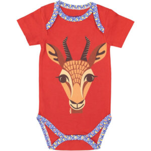 Voorkant romper korte mouw gazelle