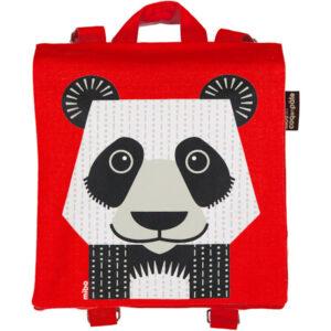 Rugtas van organisch katoen met pandaprint