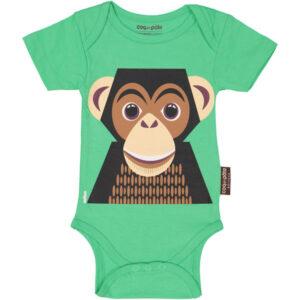 Voorkant romper korte mouw chimpansee