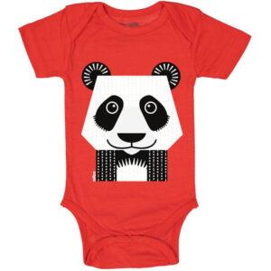 Voorkant romper korte mouw panda