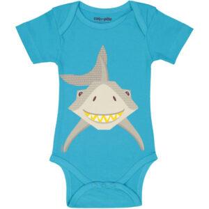Voorkant romper korte mouw haai