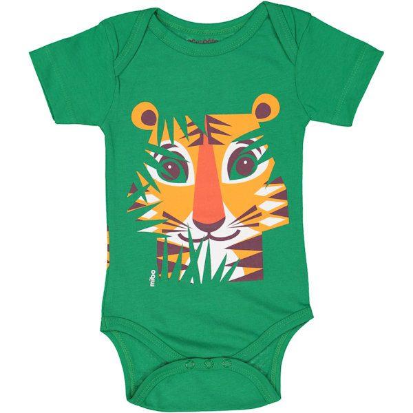 Voorkant romper korte mouw tijger