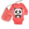 Romper en slab met pandaprint van organisch katoen