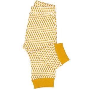 Geel-witte legging van organisch katoen