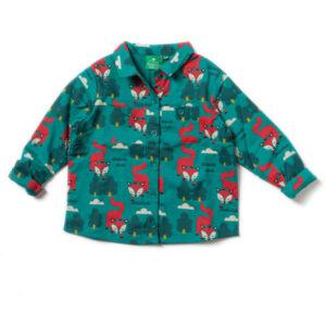 Gevoerd overhemd met vosjes van organisch katoen