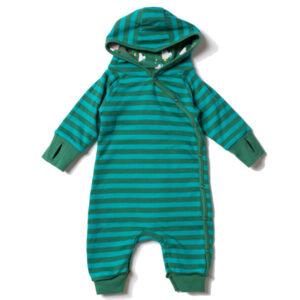 Baby buitenpakje met wolkjes van organisch katoen