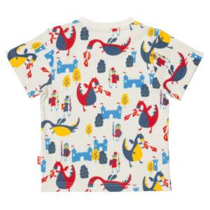 Kleurrijk draken t-shirt van organisch katoen