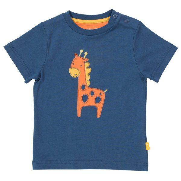 Shirt van organisch katoen met giraf