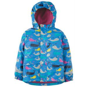 Gevoerde regenjas van gerecycled polyester met walvissen