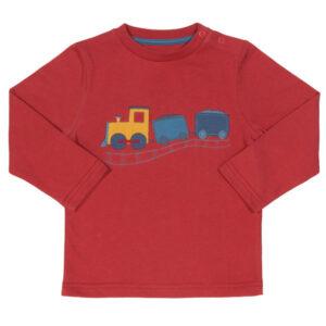 Shirt met treinapplicatie