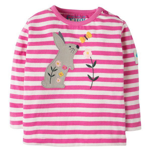 Shirt van organisch katoen met konijntje
