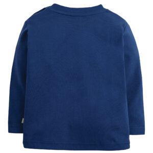 Shirt met applicatie van bever met vikinghelm van organisch katoen