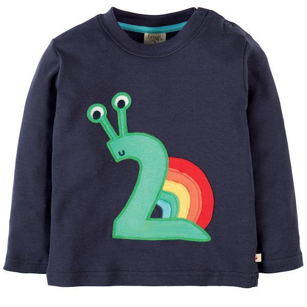 Shirt van organisch katoen met het cijfer 2