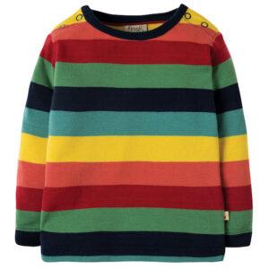 Shirt van organisch katoen met regenboogstrepen