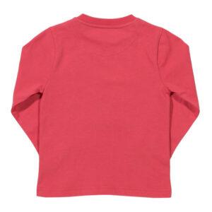 Rood shirt van organisch katoen met een hijskraan