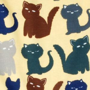 Salopette van organisch katoen met katten