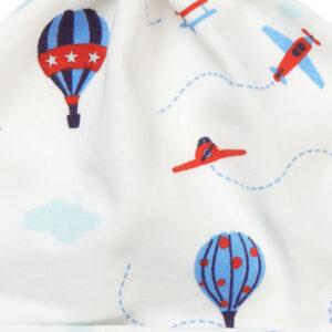 knoopmutsje van organisch katoen met luchtballonnen