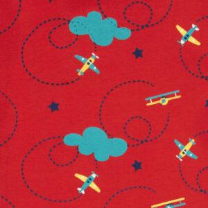 shirt van biokatoen met vliegtuigjes