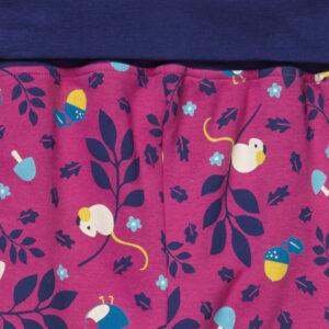 roze broekje van organisch katoen met muisjes
