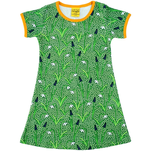groene jurk van organisch katoen