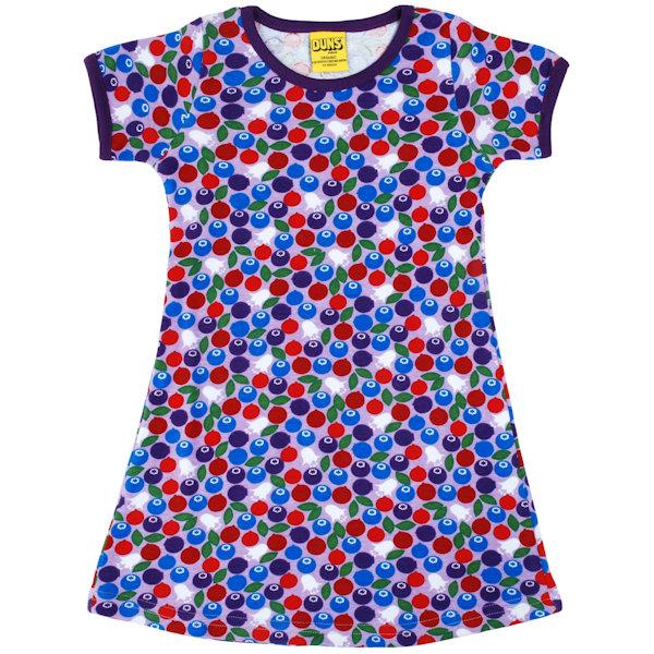 lila jurk van organisch katoen