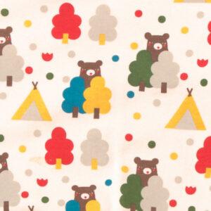 shirt van biokatoen met beren en rode mouwen