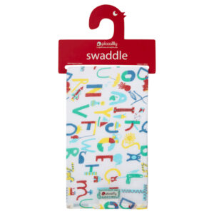 PICCALILLY Swaddle XL Alphabet Print