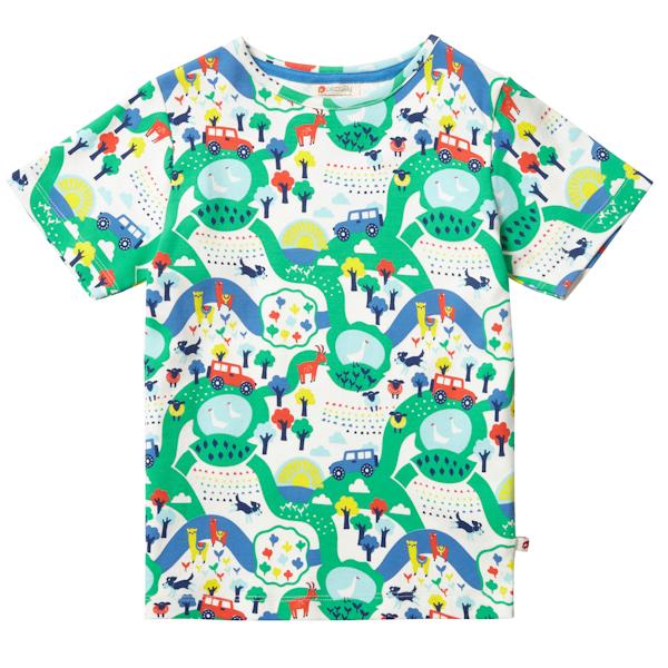 shirt van biokatoen met schapenhonden