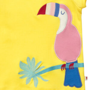shirt van biokatoen met toekan