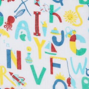 swaddle XL van biokatoen met letters