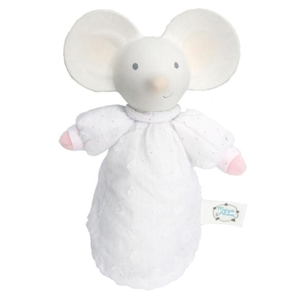 Squeaker muis met natuurlijk rubber hoofd