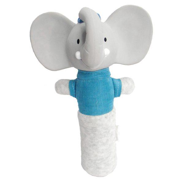 Squeaker olifant natuurlijk rubber hoofd
