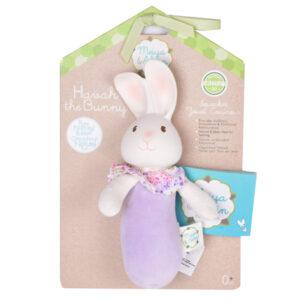 Squeaker konijn met natuurlijk rubber hoofd