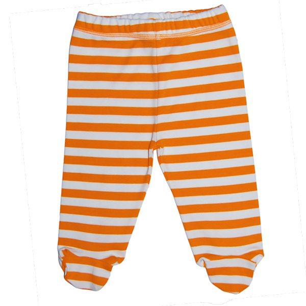 Oranje gestreepte babybroek van biokatoen