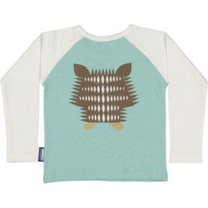 Raglan shirt van organisch katoen met egel