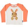 Raglan shirt van organisch katoen met konijntje