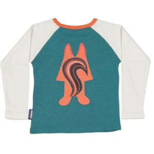Raglan shirt van organisch katoen met eekhoorn