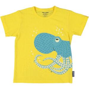 T-shirt van organisch katoen met octopus