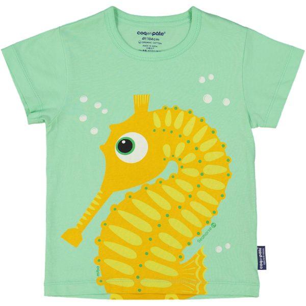 T-shirt van organisch katoen met zeepaardje