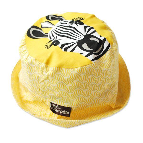 Hoed van organisch katoen met zebra