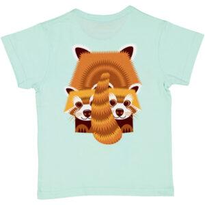 T-shirt van organisch katoen met rode panda