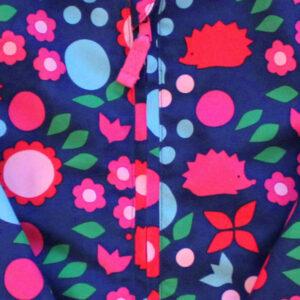 Winterjas met bloemetjes