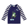 Raglan shirt van biokatoen met kikkertje