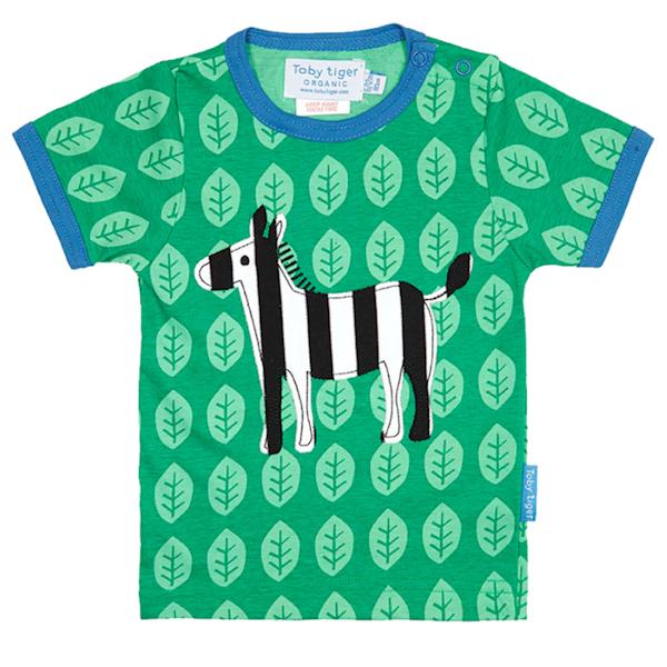 Shirt van organisch katoen met zebra