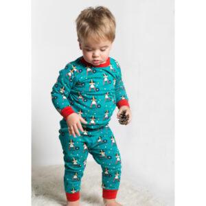 Pyjama van biokatoen met vikingen