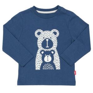 Mama en baby beer shirt van biokatoen