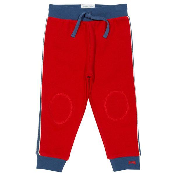 Rode joggingbroek met zijstreep