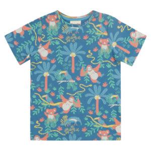 Shirt van biokatoen met regenwoud print