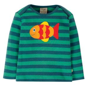 Shirt van organisch katoen met vis