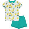 Meyadey pyjama van biokatoen met citroenen